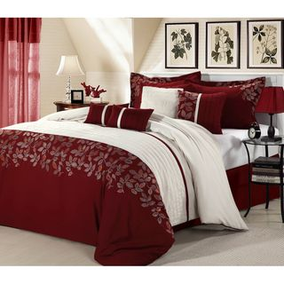 Montana 8 Piece Comforter Set For The Home Red