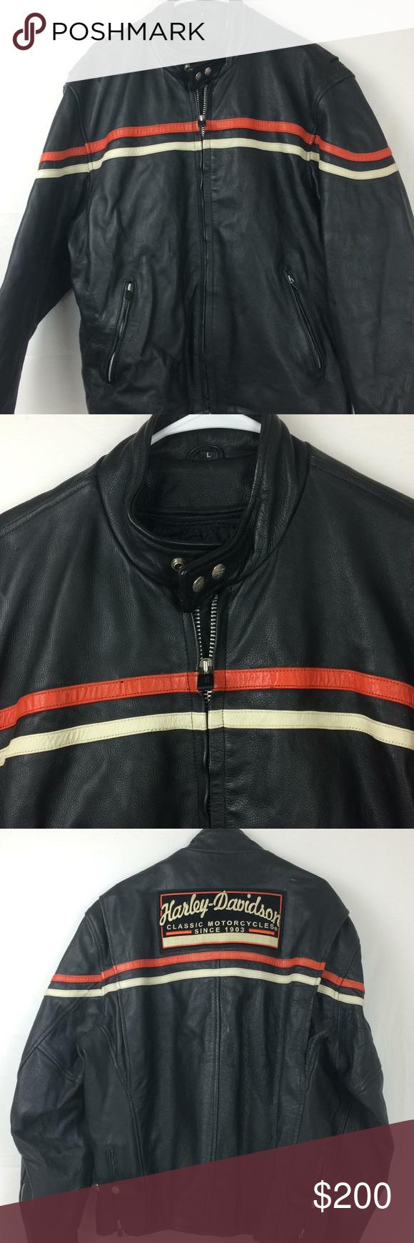 Men S Harley Davidson Jacket Size Large Black Harley Davidson Jacket Clothes Design Jackets [ 1740 x 580 Pixel ]