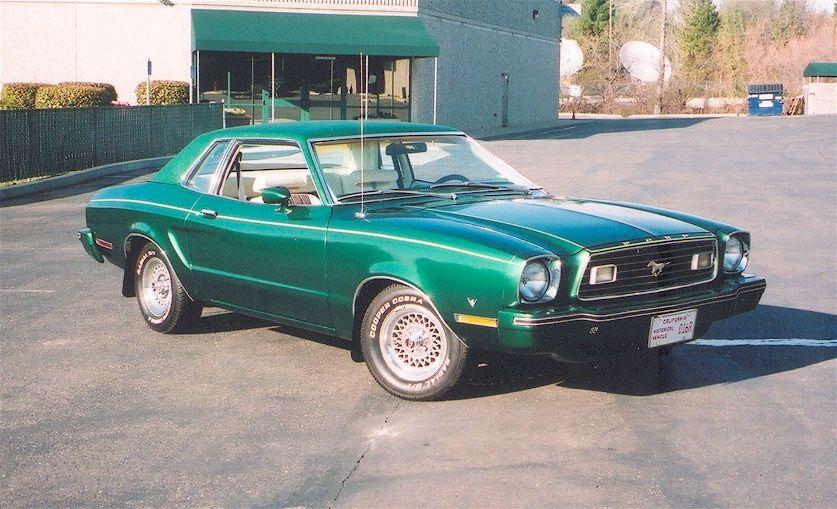 Dark Emerald 1978 Mustang Ii Mustang Ii Ford Mustang Mustang