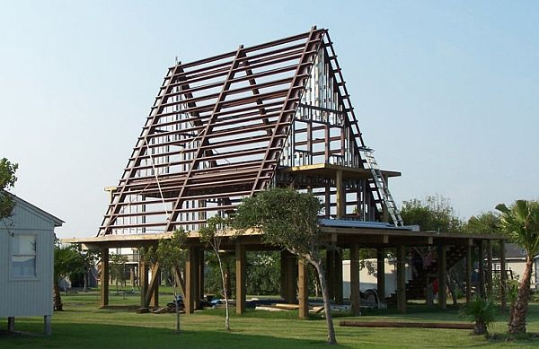 Metallic Structure Houses Designs Plans And Pictures Steel Building Homes A Frame House A Frame Cabin