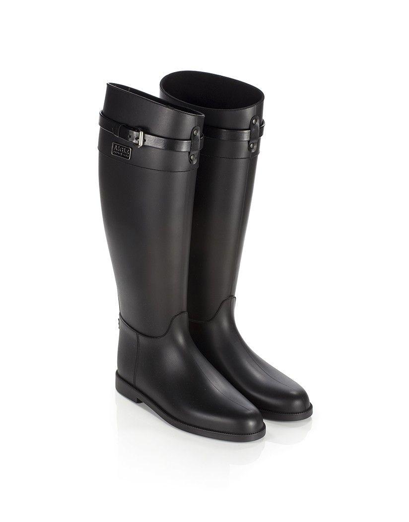 bc2f1b2554a Aigle Women's Alaquine Bride Wellington Boots - Black | AIGLE ...