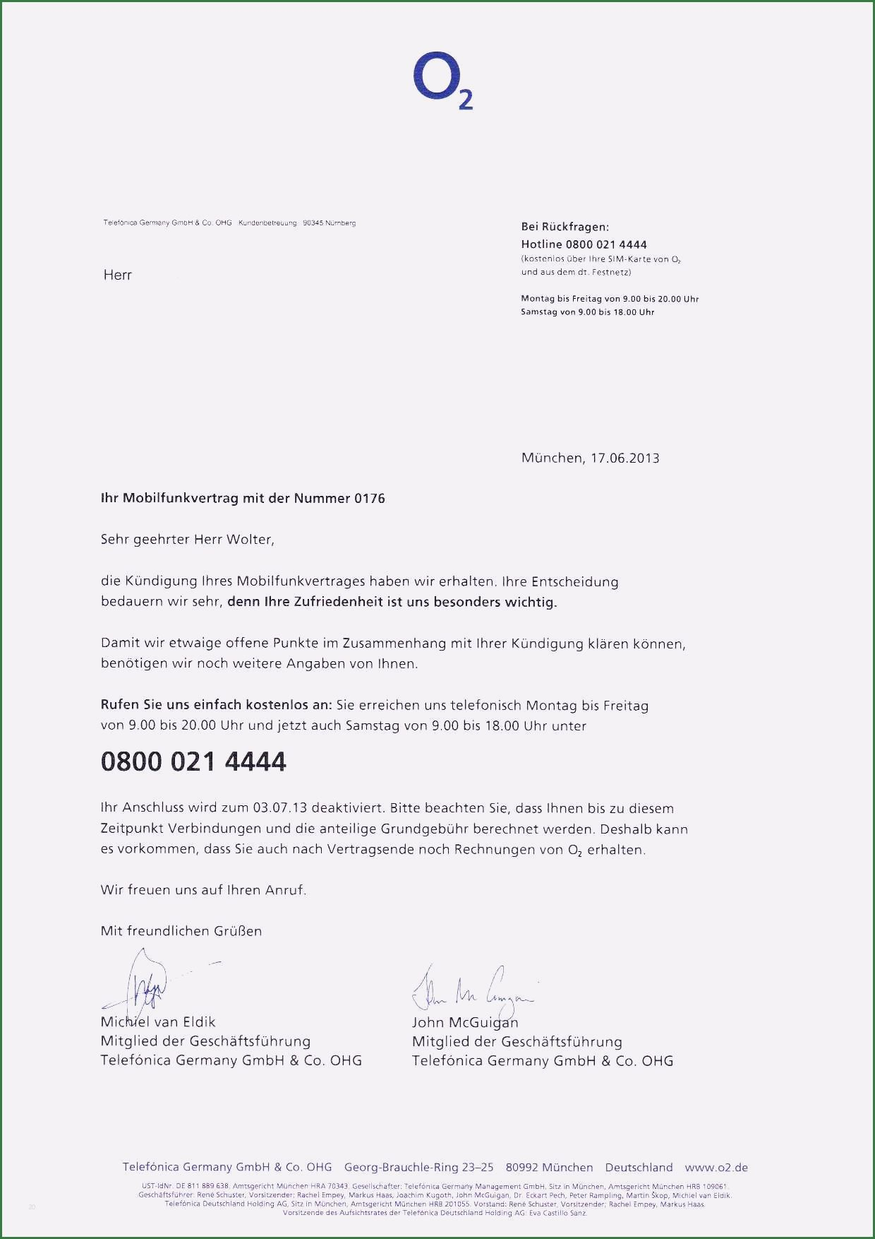 O2 Handyvertrag Online Kundigen Geprufte Vorlage