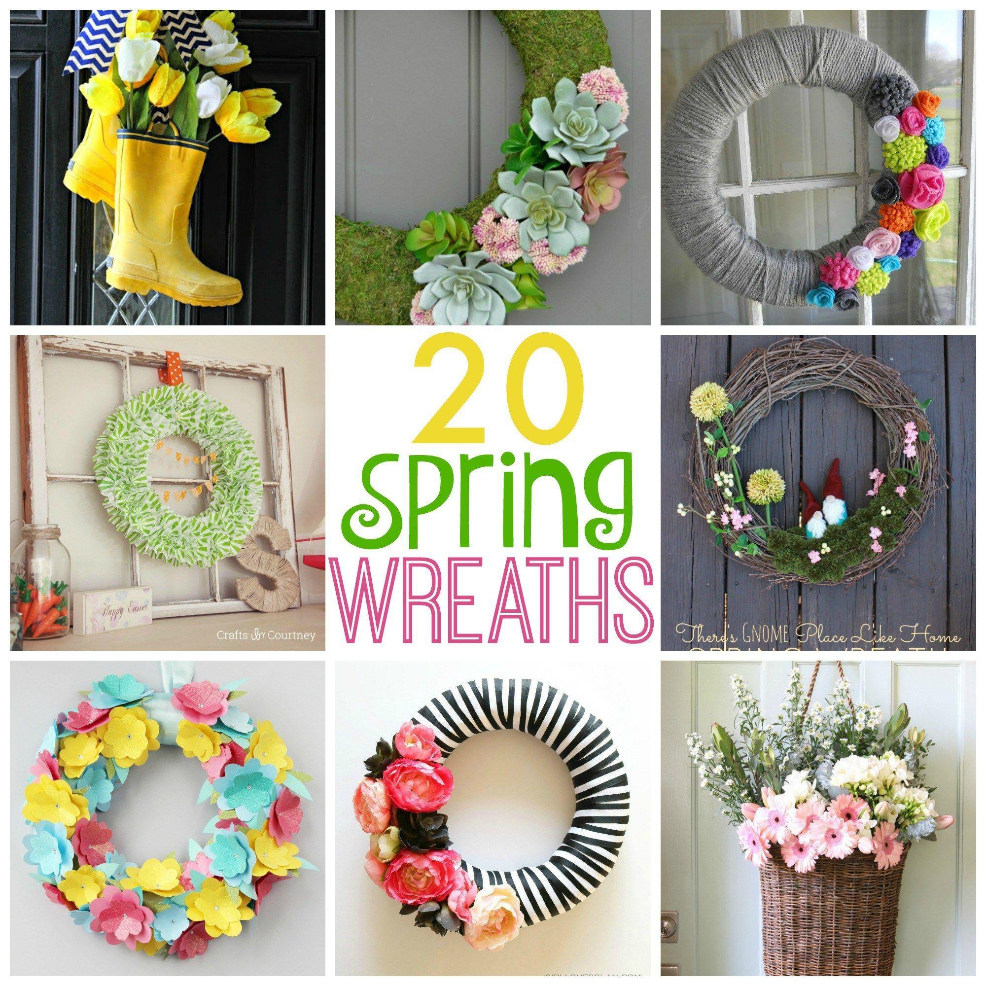 20 Beautiful Spring Wreaths Spring Wreath Diy Spring Wreath Easter Wreath Diy