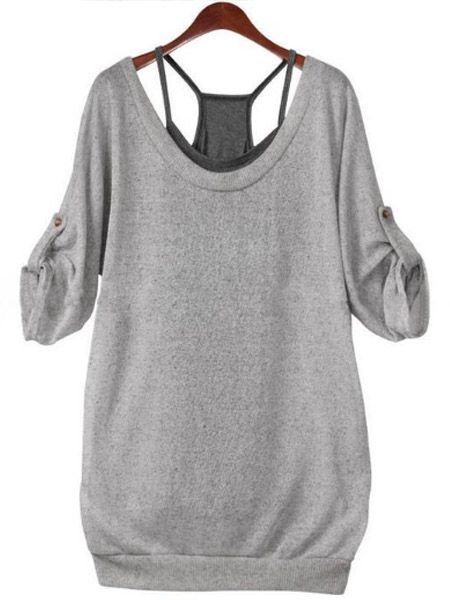 0f07ad6fc6d Comfortable Round Neck Cotton Two Piece T-shirt T-shirts from fashionmia.com