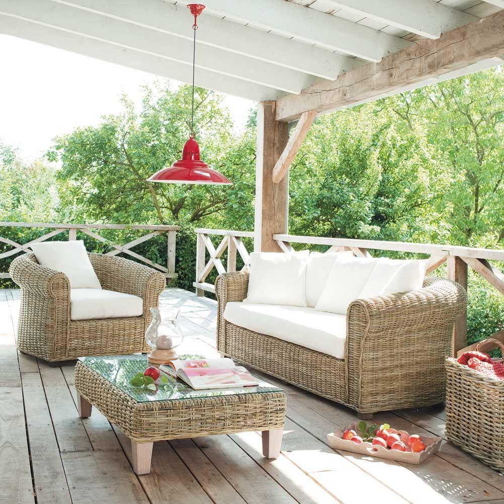 Sofa 3 Sitzer Aus Baumwolle Elfenbein Stime Maisons Du Monde Haus Haus Deko Outdoor Dekorationen