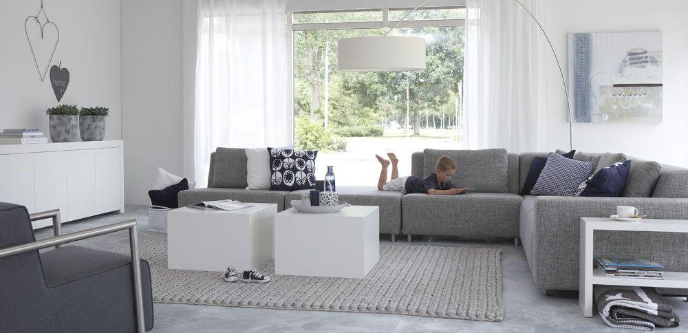 moderne grijze bank voor woonkamer livingroom pinterest