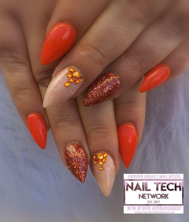 Autumn Nails Burnt Orange , Nailstyle