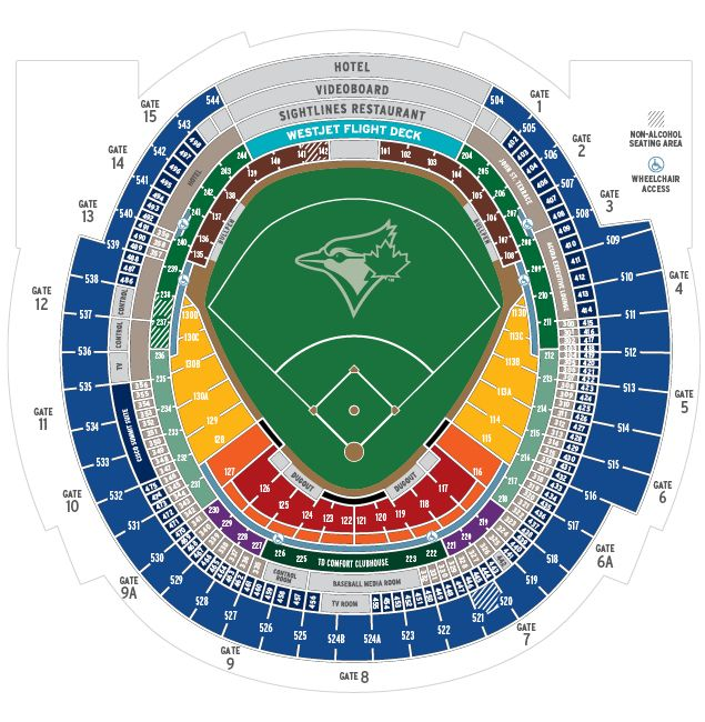 Toronto blue jays seating chart erkal jonathandedecker com
