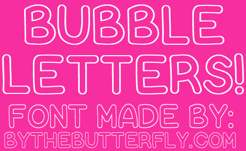 Bubble Letters Font By Bythebutterfly Fonts Pinterest Fonts