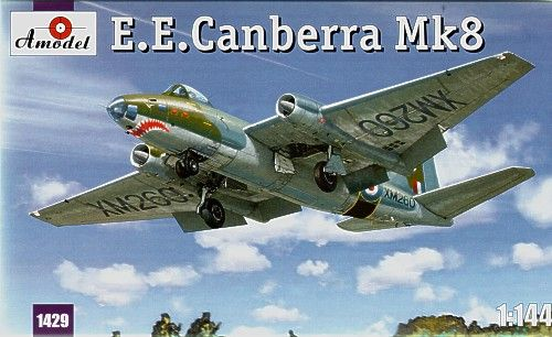 E.E. Canberra Mk.8. A Model, 1/144, injection, No.1429. Price: 10,98 GBP.