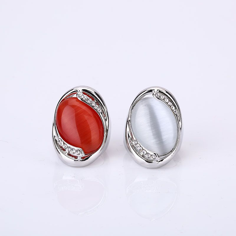 Retro Grande Pietra Rossa Naturale Del Partito Anelli Vintage Unico Anelli Opale Accessori Gioielli Femminili Retro Boho delle Donne Anelli di Nozze