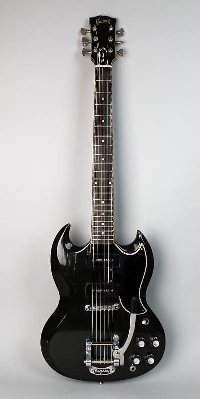 1961 Gibson SG / Les Paul Special Black Finish Vintage Electric Guitar w/Bigsby