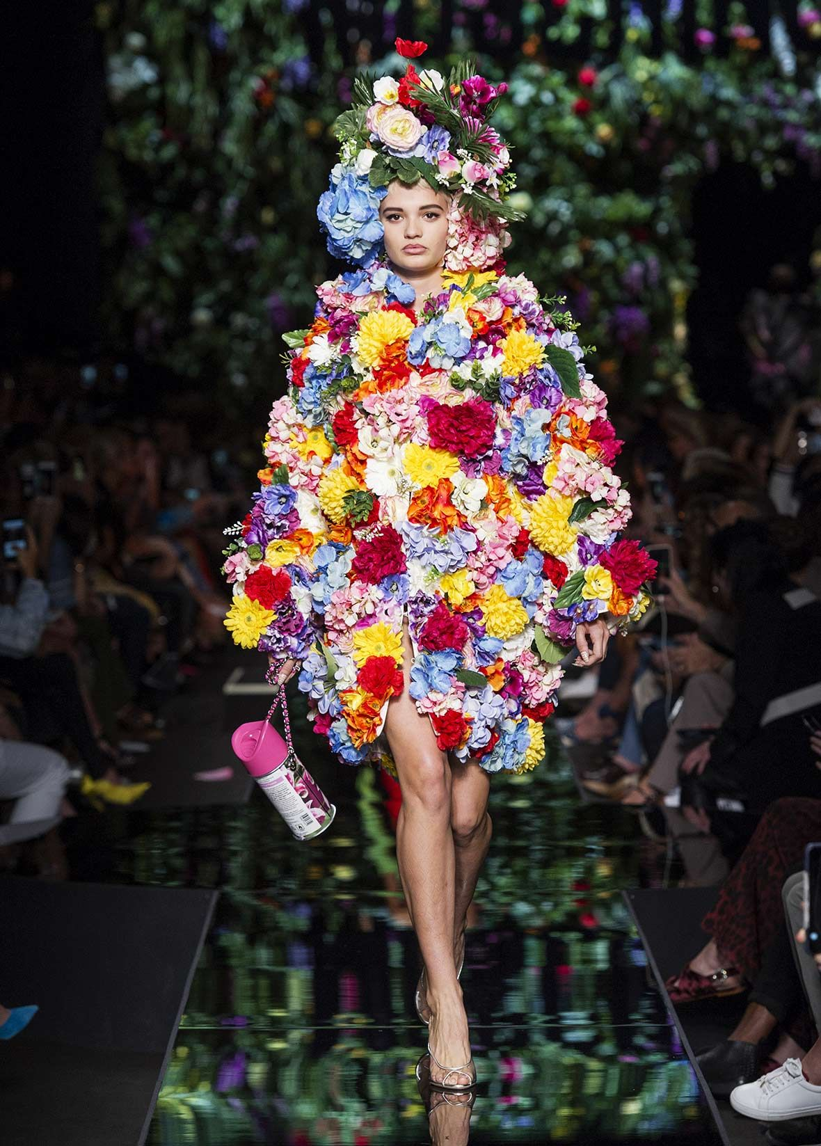 COUTURE! Bodycon Dress with Bow Spring/summer Moschino VWQikFPvsN