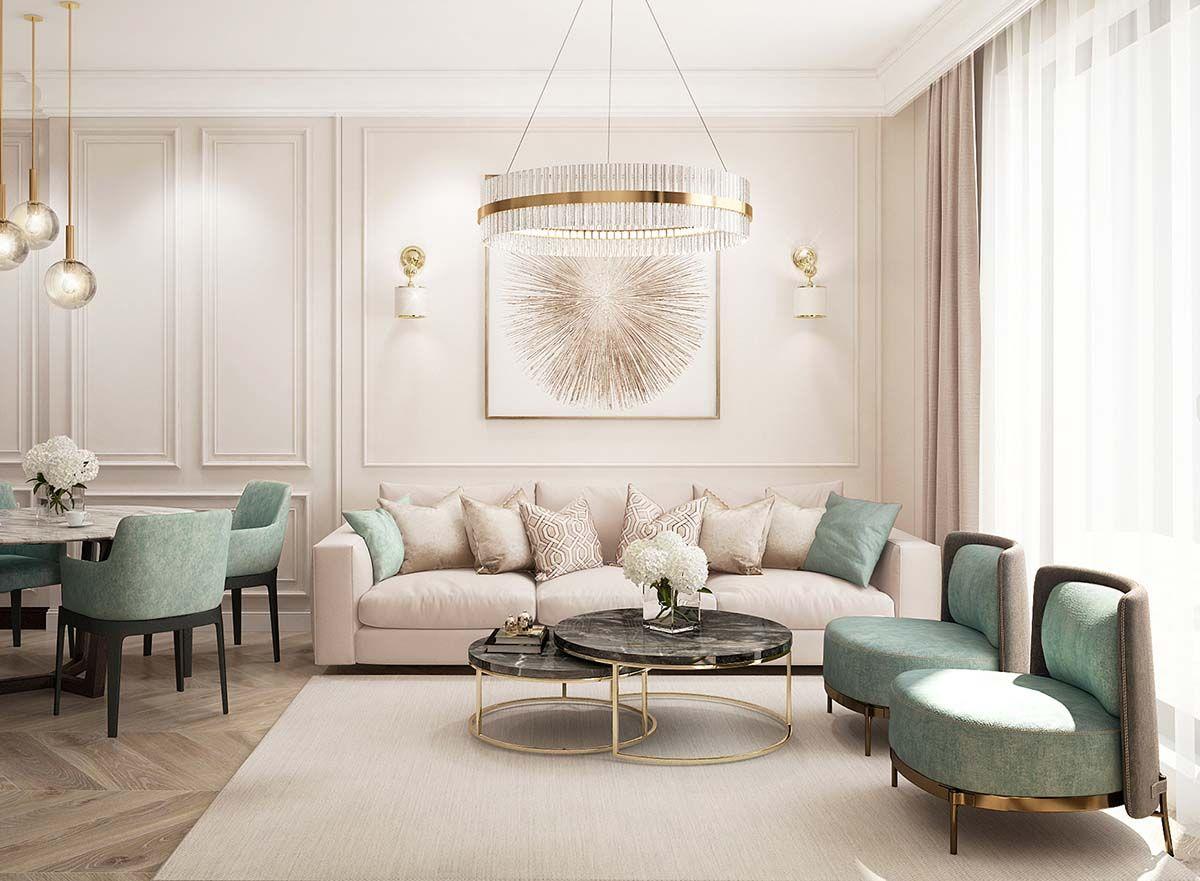 Elegant Luxury beige living room decor