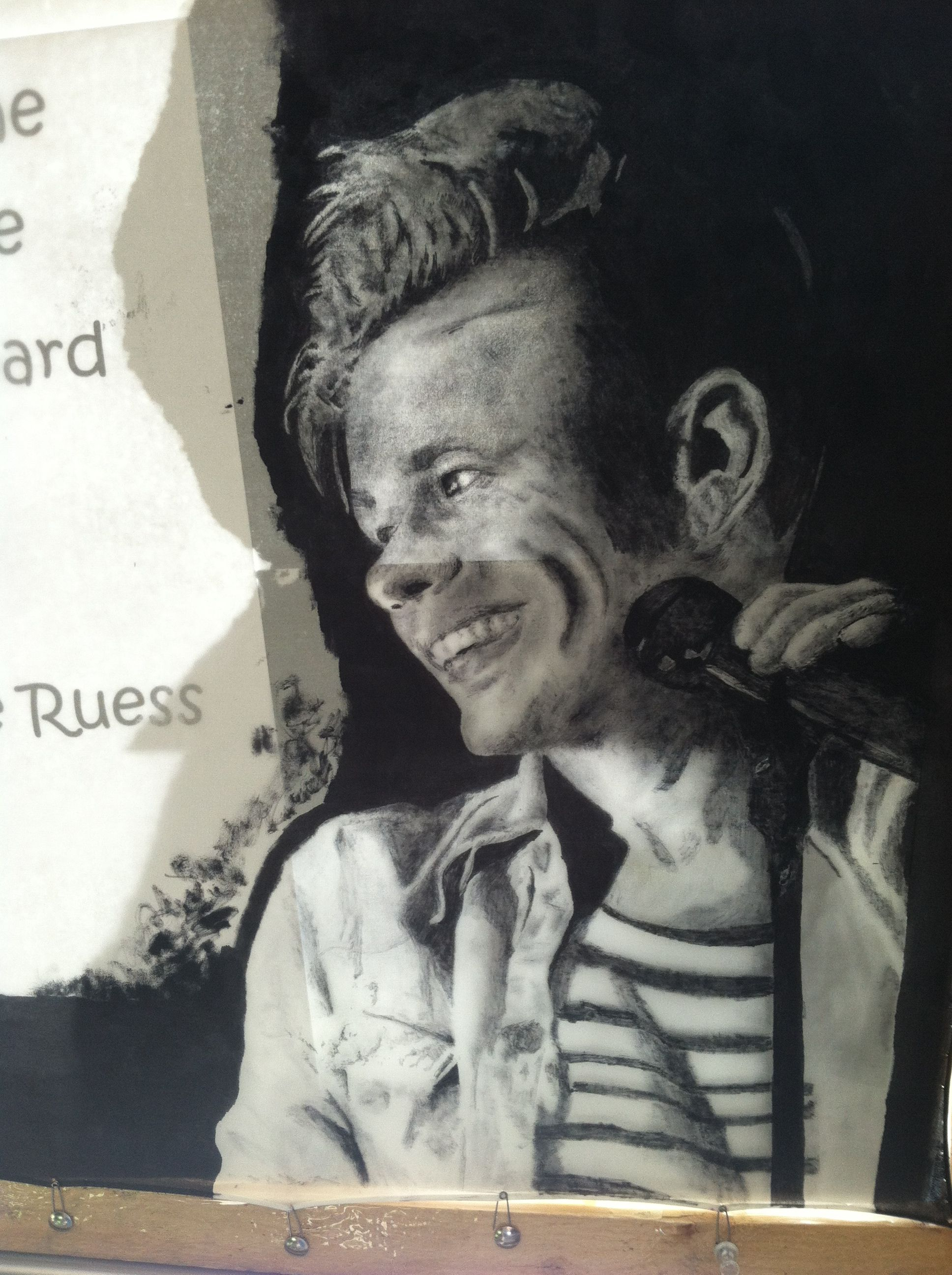 My silk painting of Nate Rouss  By Avery Cave 2013