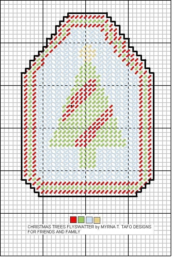 christmas tree fly swatter cover | Plastic Canvas Fly Swatter ...