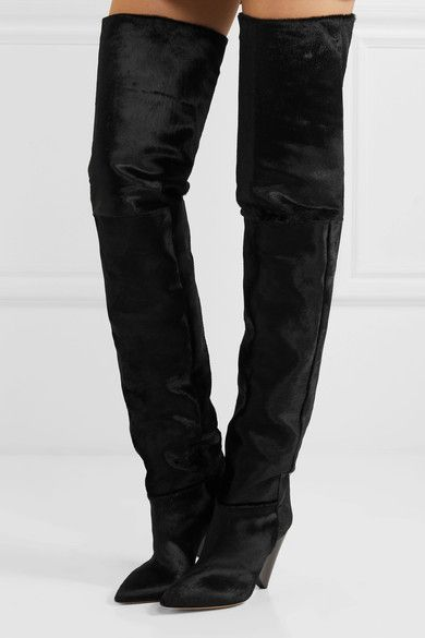 62368738dc5 ISABEL MARANT fabulous Lostynn calf hair over-the-knee boots ...