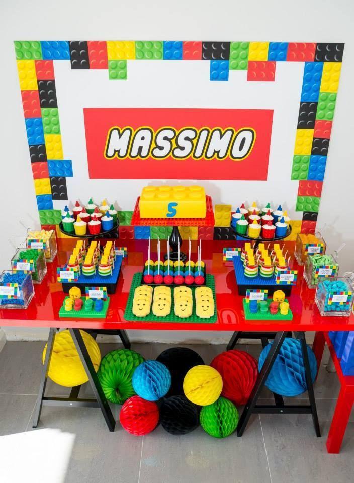 lego-birthday-party-dessert-table | Landabear | Pinterest | Birthday ...