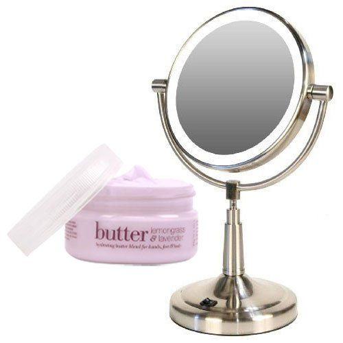 Zadro ledv45 battery powered led lighted vanity mirror and cuccio zadro ledv45 battery powered led lighted vanity mirror and cuccio body butter kit cuccio lemongrass aloadofball Image collections
