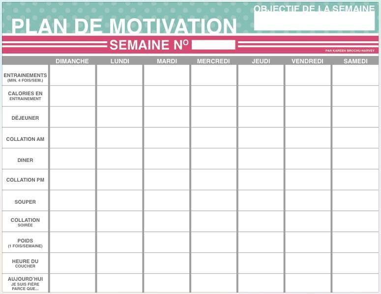 Plan de motivation