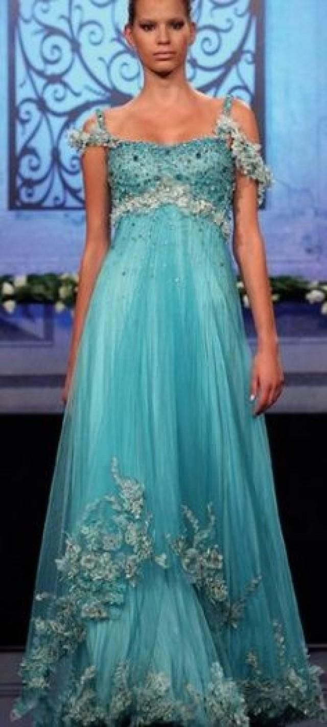 Gowns...Amore Acquas | Pins I Like | Pinterest | Gowns, Turquoise ...