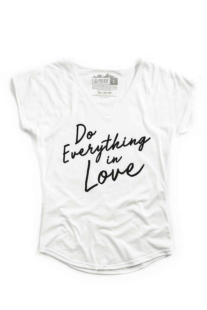 Womens Everything In Love V-Neck Tee  1e6688303