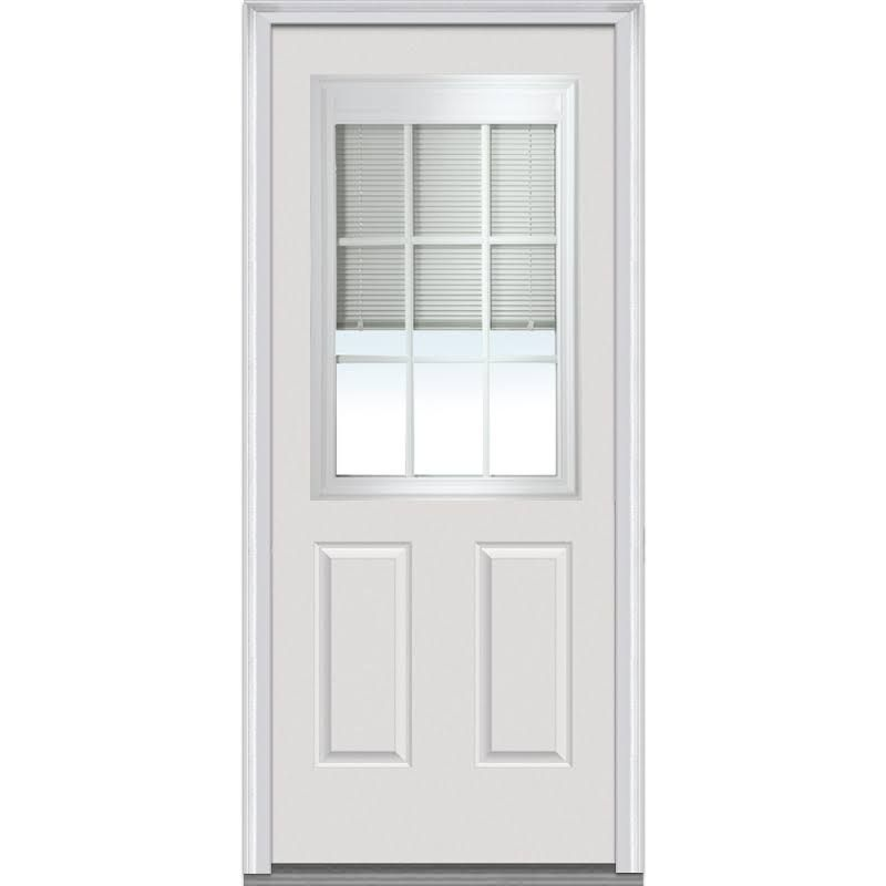 Entry Door With Mini Blinds Built In Exteriordoorstyles Windowtreatments Steel Doors Exterior Mmi Door Exterior Doors