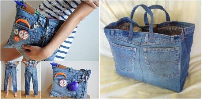 Ricicla la moda tante soluzioni fai da te per riusare il for Borse fai da te jeans