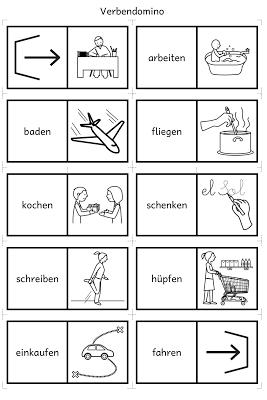 Hasenklasse: Verben domino | German worksheets | Pinterest | German ...