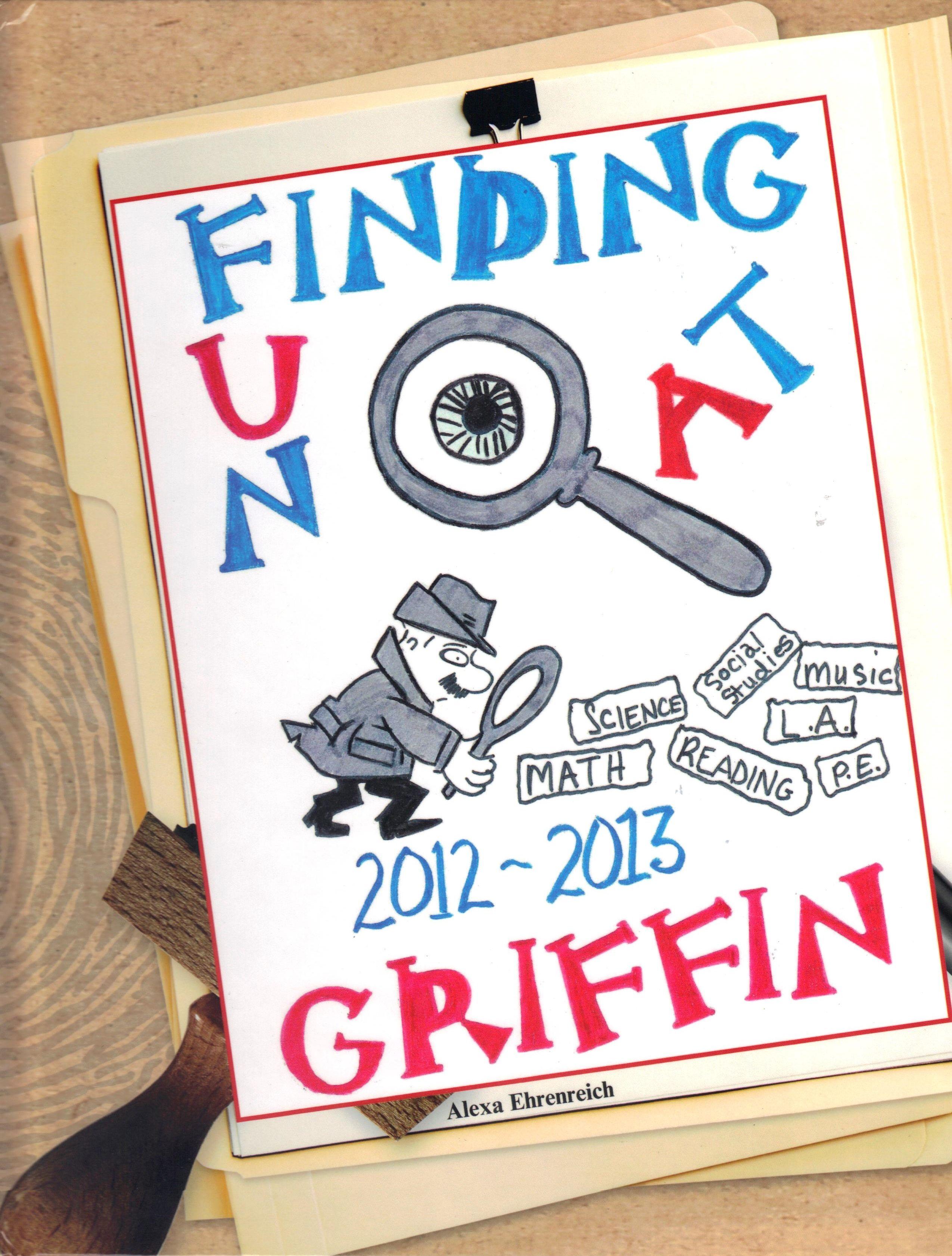 Elementary school scrapbook ideas - Griffin Elementary School Yearbook Cover