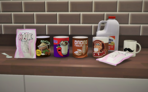 Chocolate Mix Marshmallows Recolor Of Simista S Coffee Can Tinkle S Shelf Life Bag Had My First Hot Chocolate For The Season Today Made Sims 4 Cc Furniture