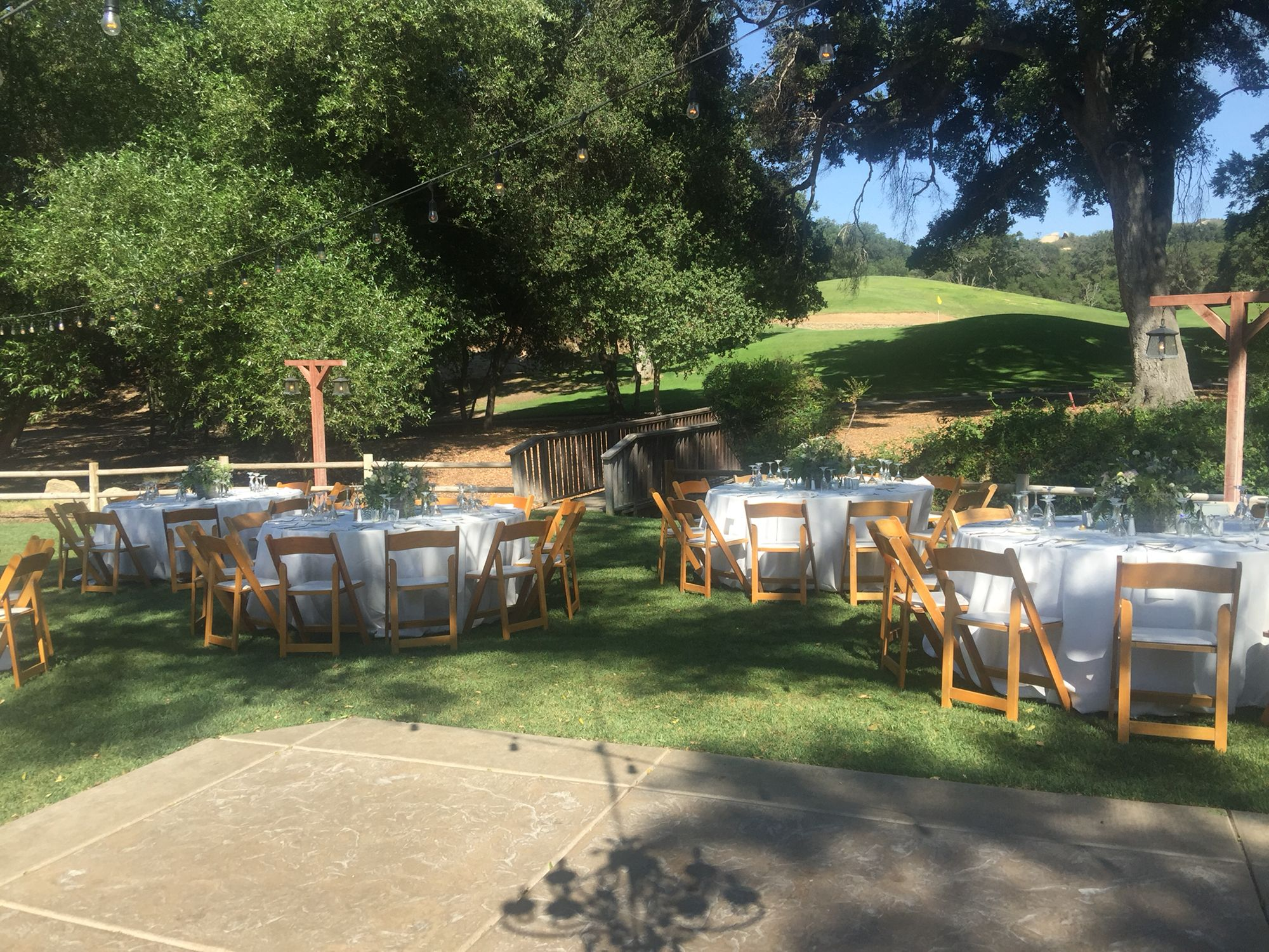 Rustic setting for a reception Temecula Creek Inn