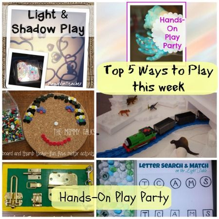 Top 5 Ways to Play with week with the Hands-On Play Party #handsonlearning #play #kids #kbn