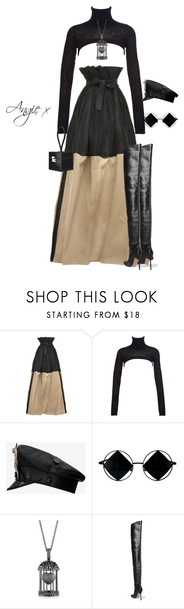 """Untitled #692"" by stylzbyang ❤ liked on Polyvore featuring Tome, Preen, Yves Saint Laurent, Azhar and Manolo Blahnik"