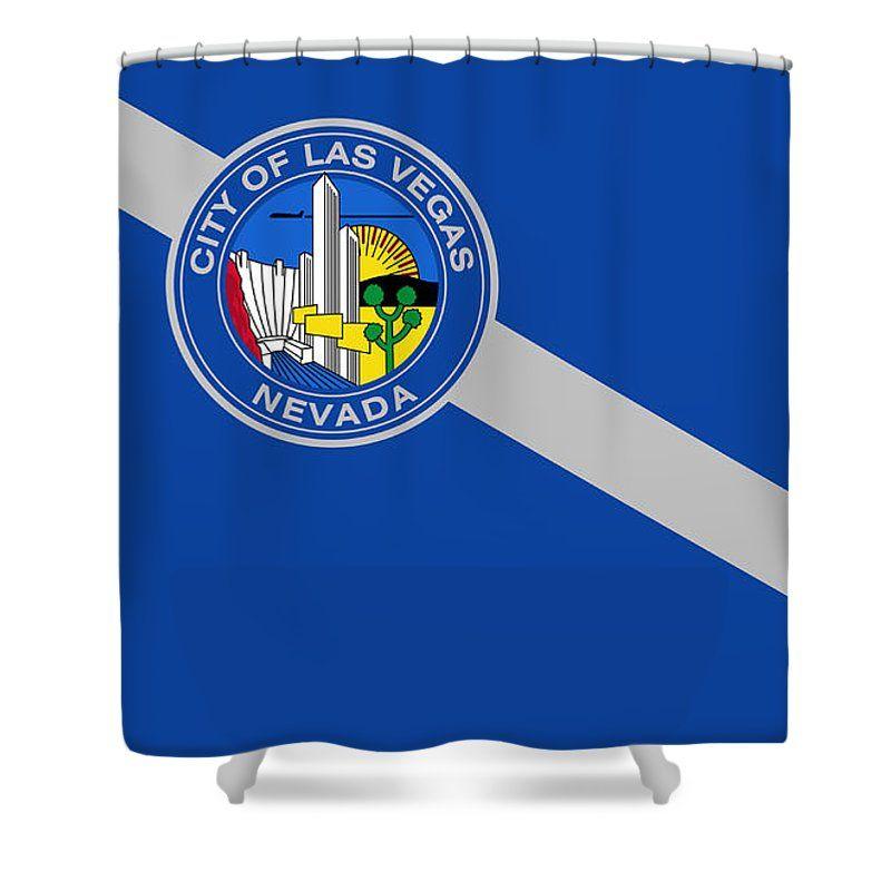 Las Vegas Shower Curtain Featuring The Mixed Media Nevada By Otis Porritt
