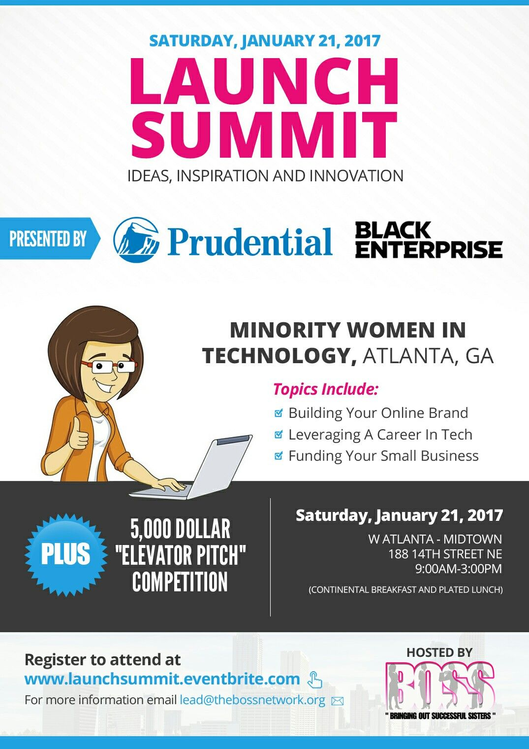 One Week Away: Win 5,000 For Your Business. Register at www.launchsummit.com or email lead@thebossnetwork.org Don't miss out! #BOSSUp