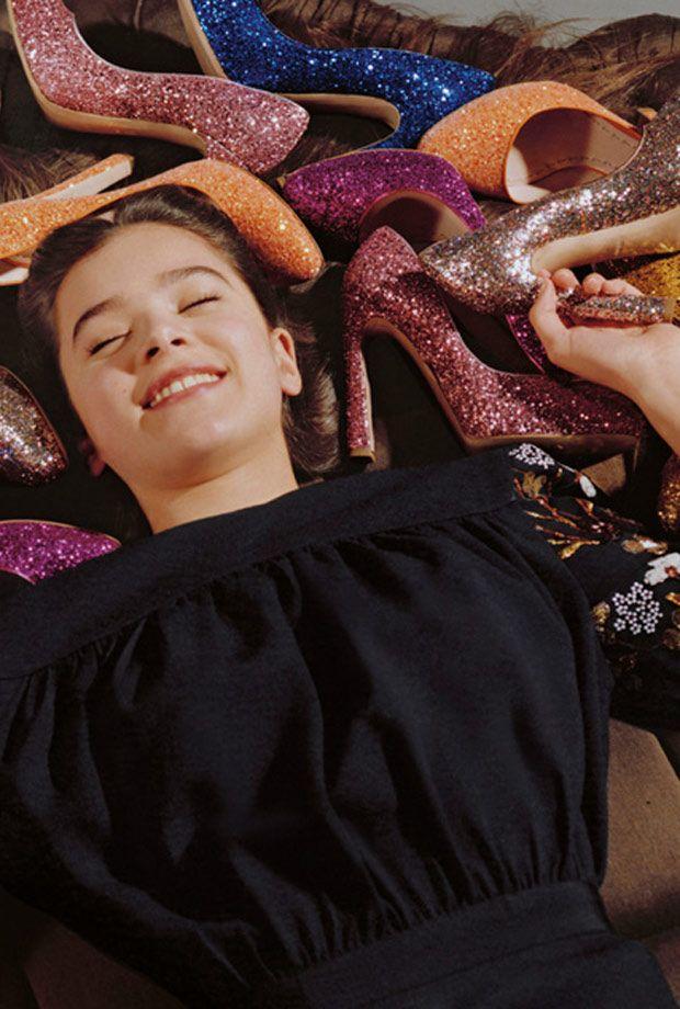 ahhhhh... a bed of Miu Miu's glitter shoes!