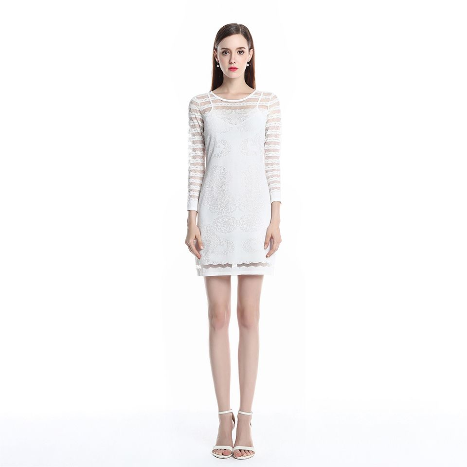 DI YALI SI Spring Fashion Solid White Sweater for Women Dress Summer