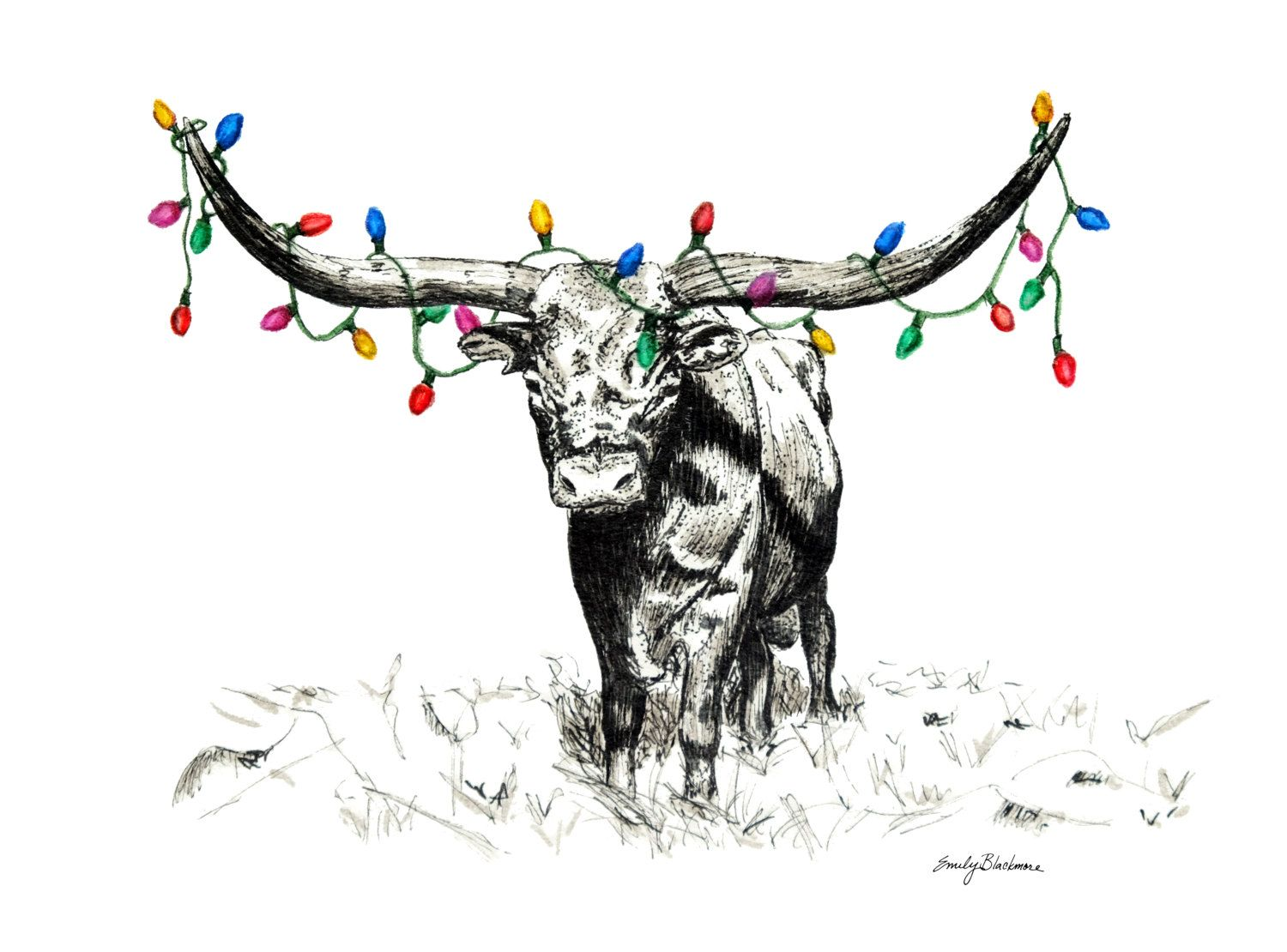 Move Over Rudolph Holiday Greeting Card Original Fine Art Of