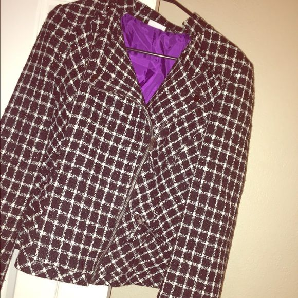 Multi-style Jacket Jacket can be worn different ways. Perfect for a night out. Has some shimmer to it. Jackets & Coats