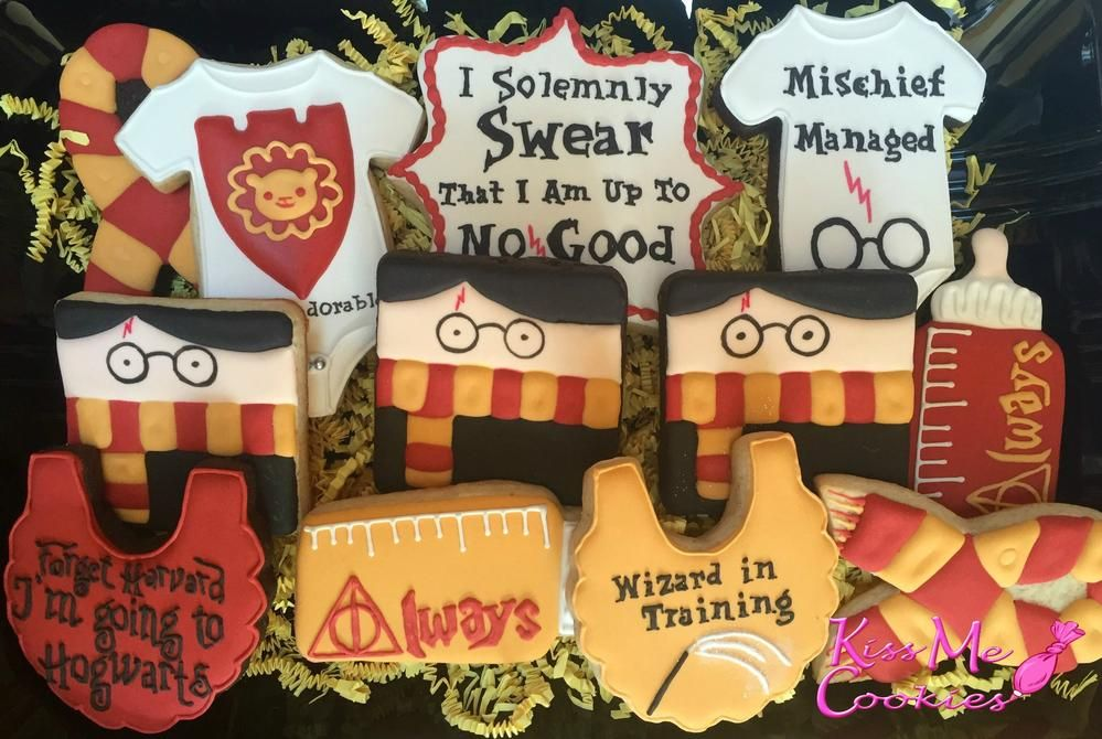 Harry Potter Baby Shower Cookie Connection Harry Potter Baby Shower Harry Potter Baby Baby Shower Cookies