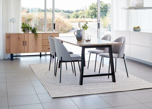 Eettafel Gadeskov 90x190 Eiken Zwart Dining Room Furniture Styles Dining Room Design Small