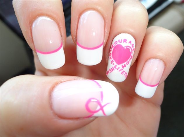 Breast cancer awareness 3 nail art gallery by nails magazine breast cancer awareness 3 nail art gallery by nails magazine prinsesfo Images