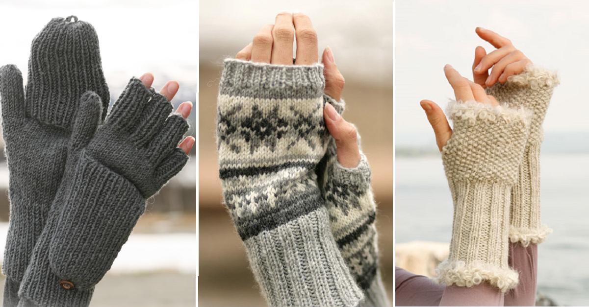 6 patrons gratuits et en fran ais de mitaines sans doigts - Comment tricoter des mitaines avec doigts ...