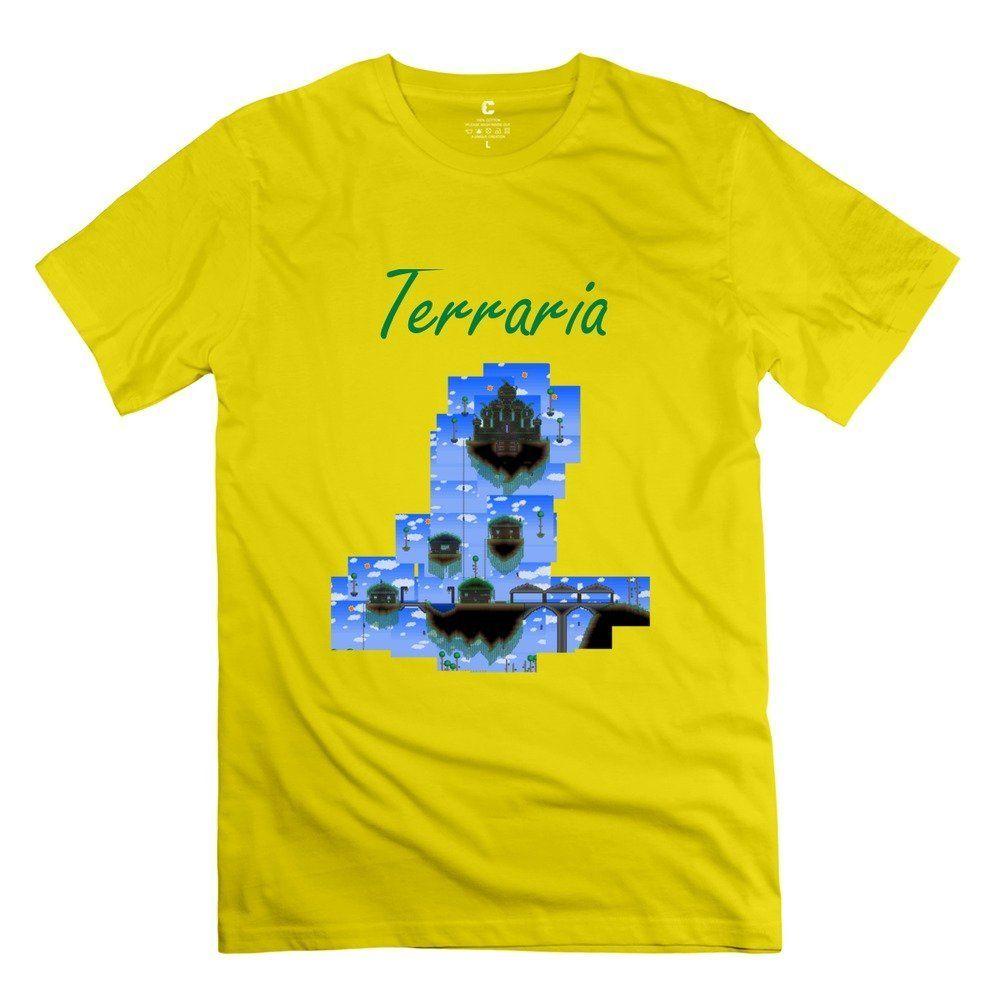 Mans Terraria Custom Cool Yellow T Shirt By Rrg2g Us Size Custom