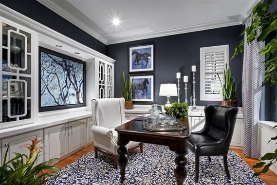Color Of The Day Deep Royal With Images Blue Home Offices
