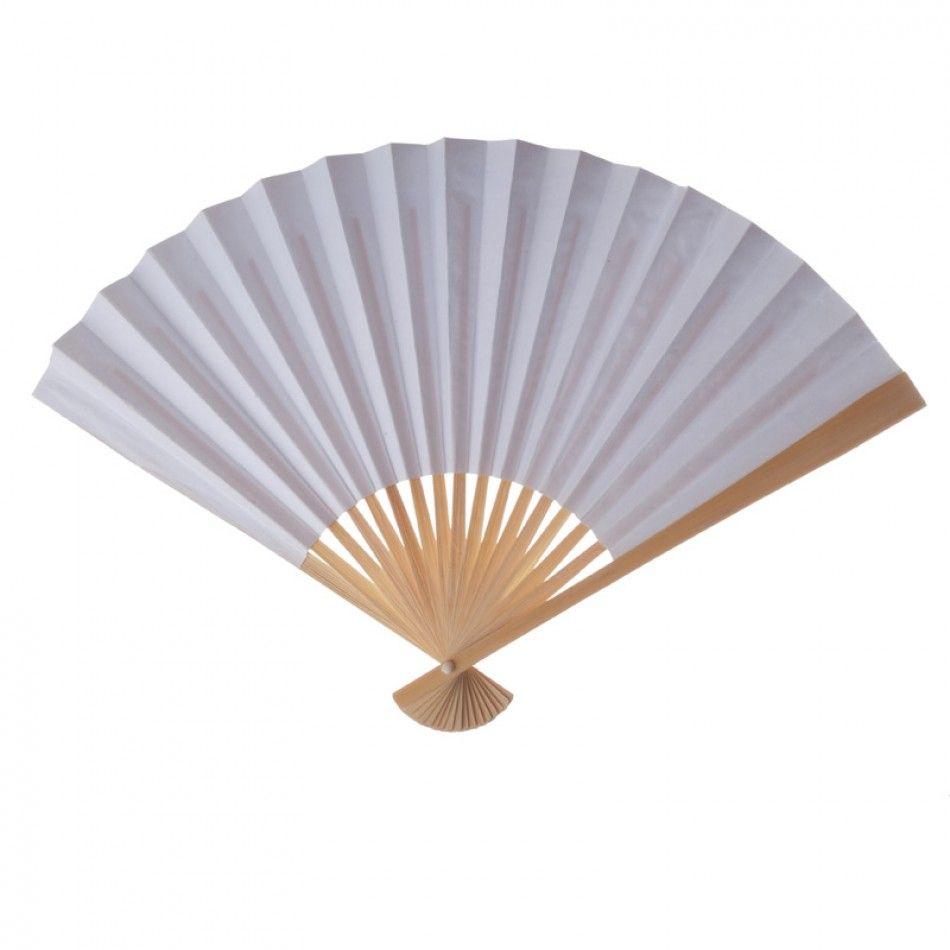 White Folding Paper Fans, 10-pack [402111] : Wholesale Wedding ...