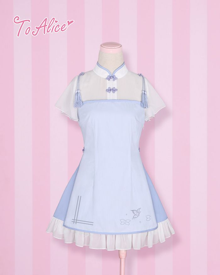 BOOKING: Classic Chinese Style *Butterfly in Love* OP Lolita Dress ...