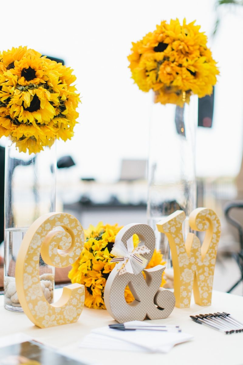 Yellow and White Air Force Wedding | Air force wedding, Sunflower ...