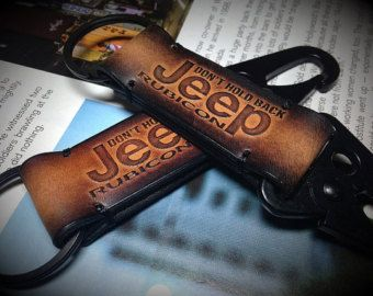 Jeep Wrangler Leather Keychain By Harisgomtang On Etsy Leather